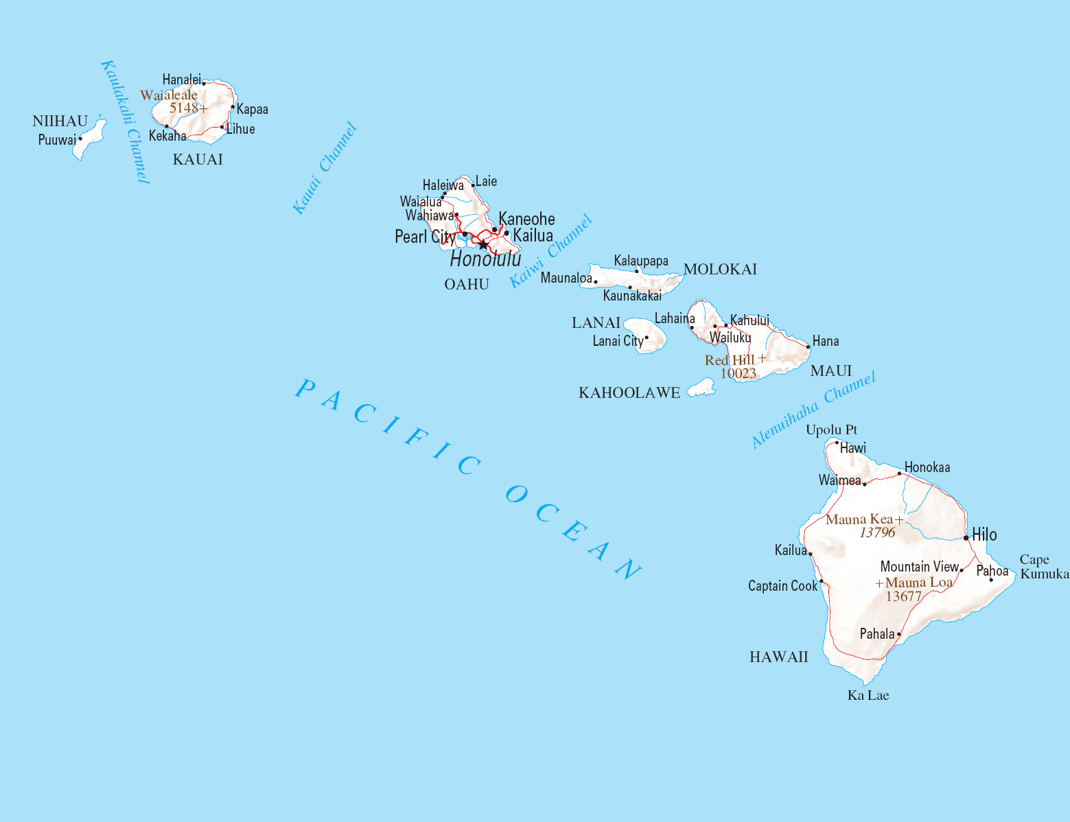 Read more about the article Map of Hawaiian Islands